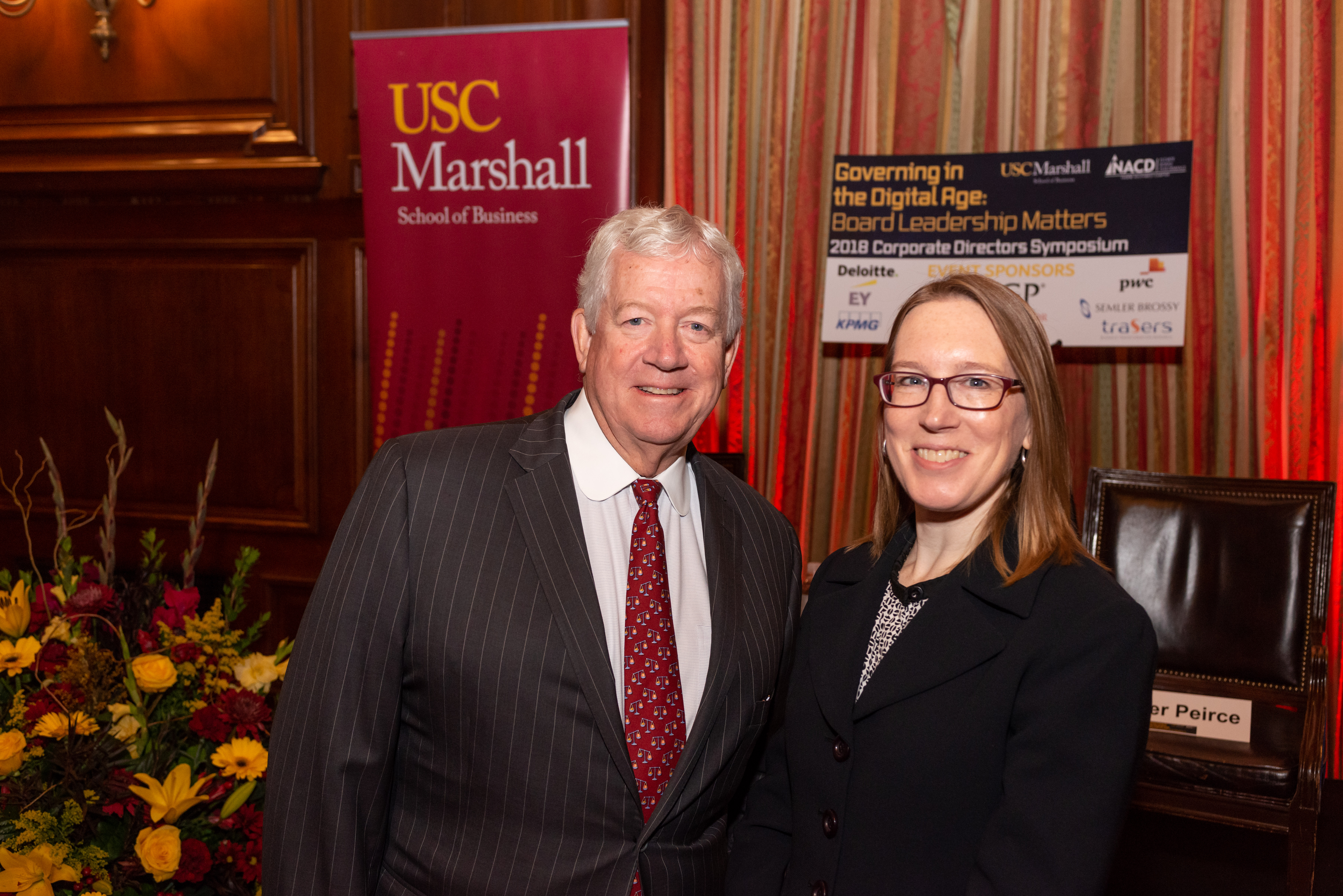USC Marshall Dean James, Ellis, SEC Commissioner H